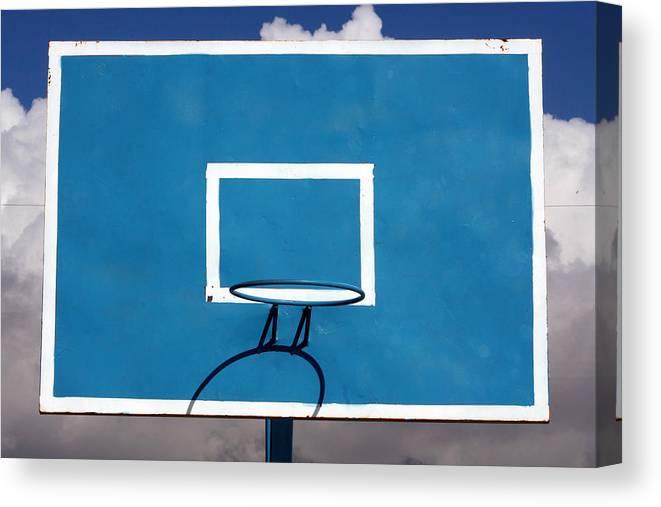 Backboard Canvas Print featuring the photograph Basketball Backboard by Robert Hamm
