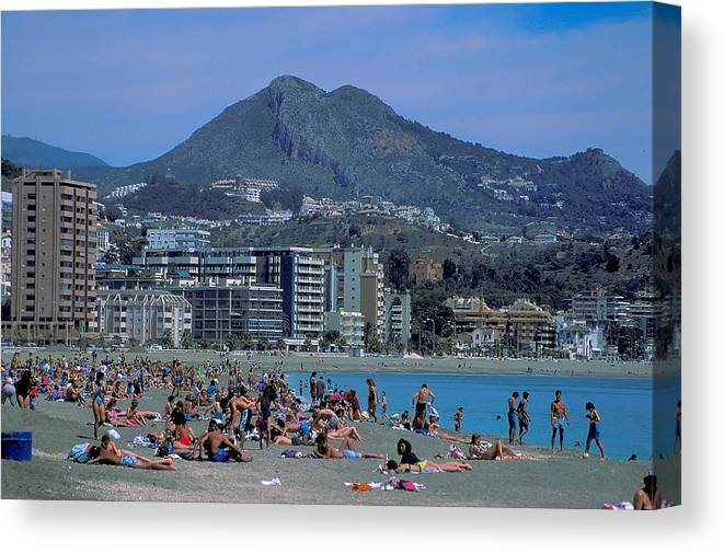 Beach Canvas Print featuring the photograph Beach At Barcelona In Spain by Carl Purcell