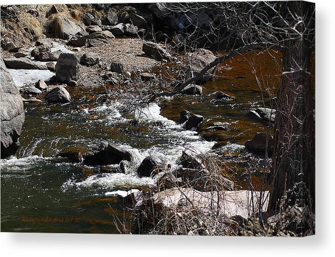 River Canvas Print featuring the photograph Begin Spring Runoff by KatagramStudios Photography
