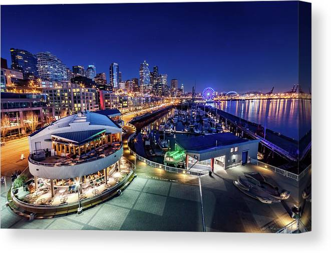 Bell Harbor Canvas Print featuring the photograph Bell Harbor by Jon Reiswig