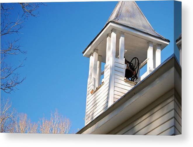 Church Canvas Print featuring the photograph Belltower by Faye Bryant