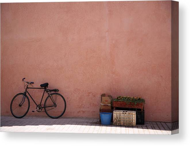Bikes Canvas Print featuring the photograph Bicycle Marrakech by Pauline Cutler