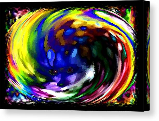 Abstract Canvas Print featuring the digital art Blue Fox by Will Borden