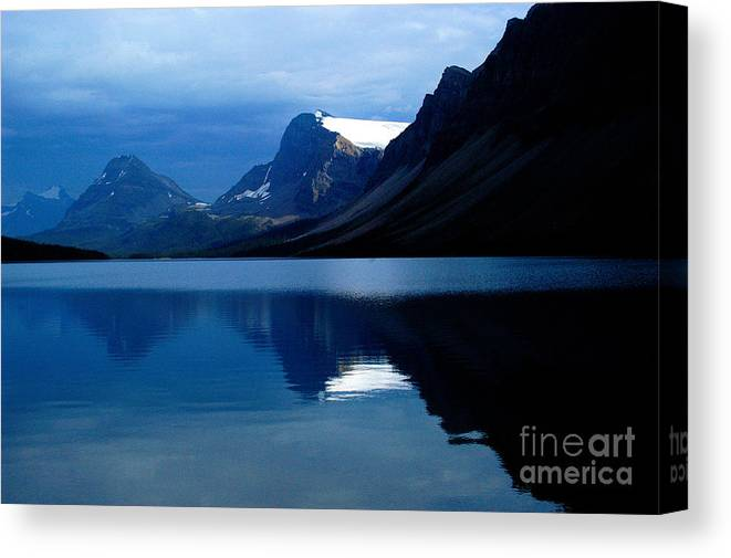 Bow Lake Canvas Print featuring the photograph Blue by Marc Bittan
