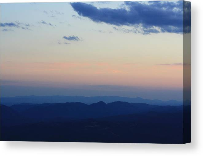 Sunset Canvas Print featuring the photograph Blue Ridge Parkway Sunset II by Pamela Smith
