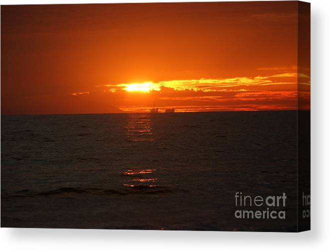 Boats Canvas Print featuring the photograph Boats In The Distance by Wendy Coloma