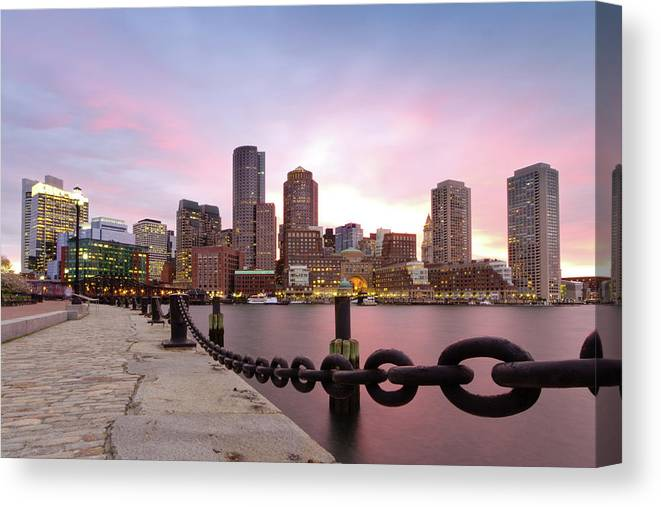 Horizontal Canvas Print featuring the photograph Boston Harbor by Photo by Jim Boud