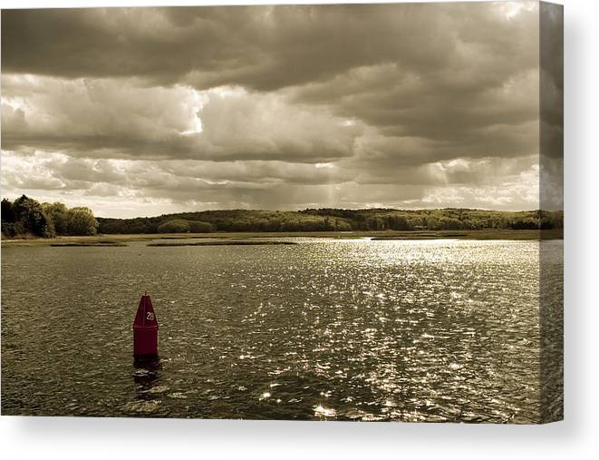 Water Canvas Print featuring the photograph Bouy 28 by Jack Foley