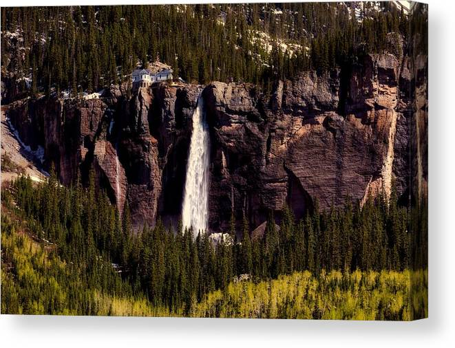 Overlook Canvas Print featuring the photograph Bridal Veil Falls by L O C