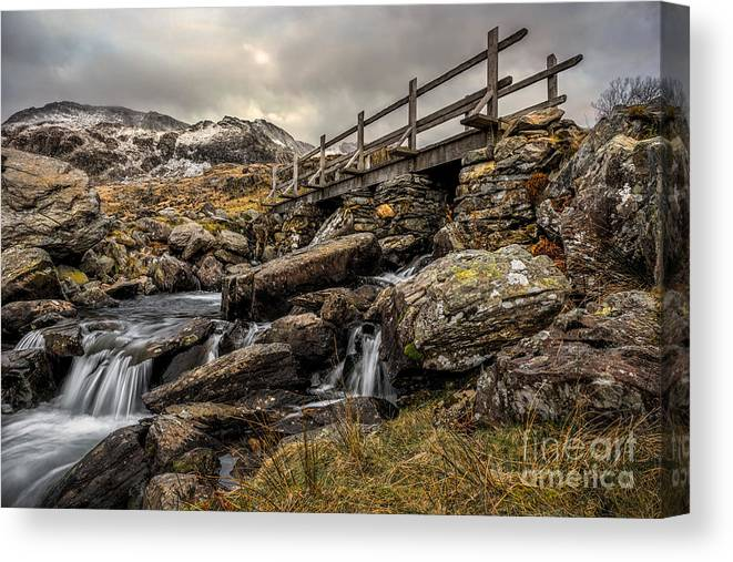 Waterfall Canvas Print featuring the photograph Bridge To Moutains by Adrian Evans