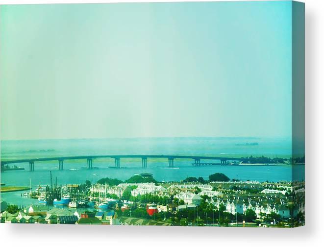 Brigantine Canvas Print featuring the photograph Brigantine Bridge - New Jersey by Bill Cannon