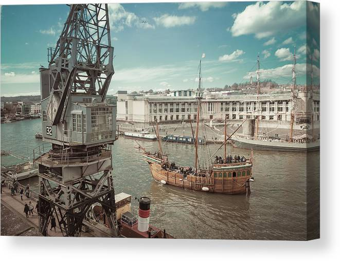 The Matthew Canvas Print featuring the photograph Bristol Docks by Paul Hennell