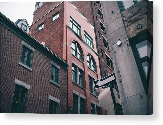 Colin Gordon Photography Montreal Canada Ontario Architecture Canvas Print featuring the photograph Buildings by Colin Gordon