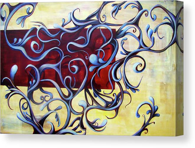 Squiggles Canvas Print featuring the painting Butter by Janine Jones