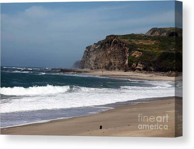 California Canvas Print featuring the photograph California Coast - Blue by Amanda Barcon