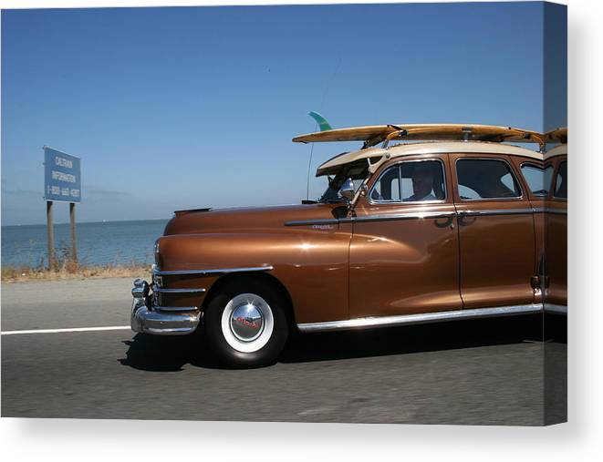 Vintage Car Canvas Print featuring the photograph California Dreaming by Linda Russell