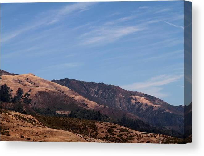 California Canvas Print featuring the photograph California Hills 4 by Benji Alexander Palus