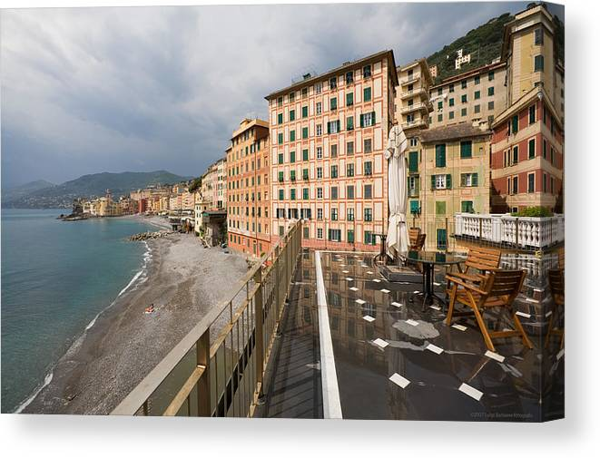 Italy Canvas Print featuring the photograph Camogli 4 by Luigi Barbano BARBANO LLC