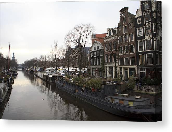 World Cities Canvas Print featuring the photograph Canals Of Jordaan by Alexander Davydov