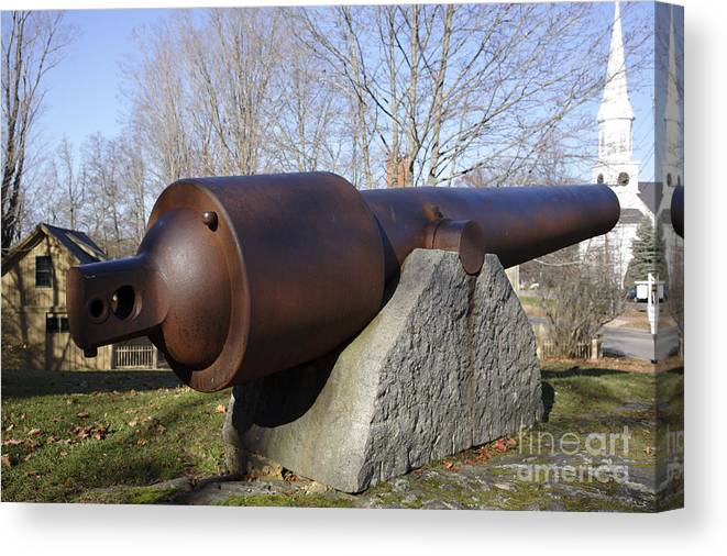 American Canvas Print featuring the photograph Cannon - York Maine Usa by Erin Paul Donovan