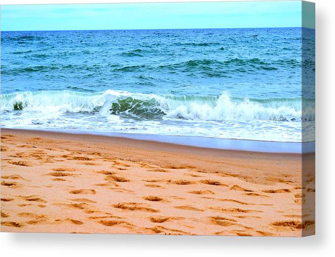 Cape Cod Canvas Print featuring the photograph Cape Cod Beach Day by Kate Arsenault