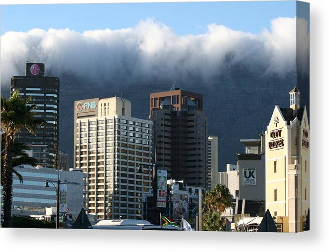 South Africa Canvas Print featuring the photograph Cape Town - Smoking Mountain by Andrei Fried