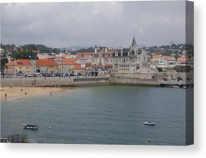 Cascais Canvas Print featuring the photograph Cascais, Portugal by Rauno Joks