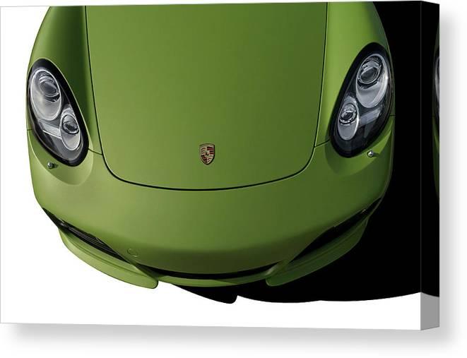 Porsche Canvas Print featuring the digital art Porsche Cayman R by Douglas Pittman