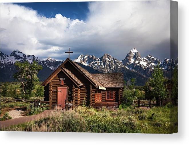 Church Canvas Print featuring the photograph Chapel Of The Transfiguation by Harriet Feagin