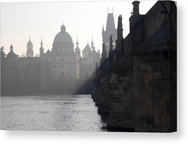 Bridge Canvas Print featuring the photograph Charles Bridge At Early Morning by Michal Boubin