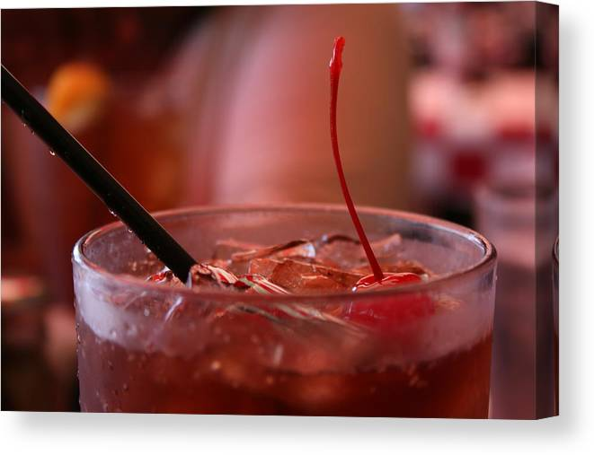 Soda Canvas Print featuring the photograph Cherry Coke by Aimee Galicia Torres
