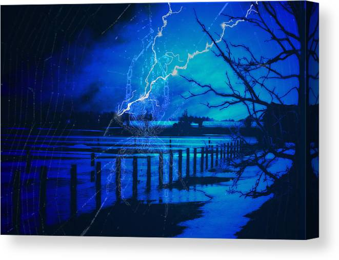 Chill Canvas Print featuring the digital art Chill In The Air by Cathy Beharriell