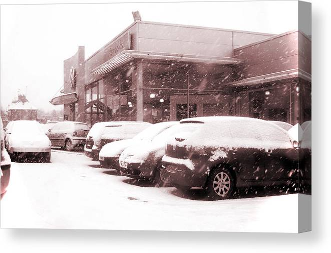 Jez C Self Canvas Print featuring the photograph Chilly Day For Buying A Car by Jez C Self