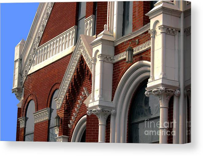 Elegant Canvas Print featuring the photograph Church Architecture by Laura Birr Brown