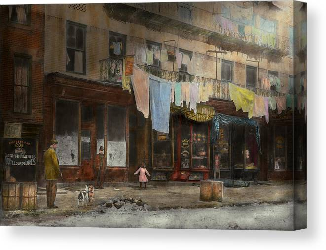 Self Canvas Print featuring the photograph City - Ny - Elegant Apartments - 1912 by Mike Savad