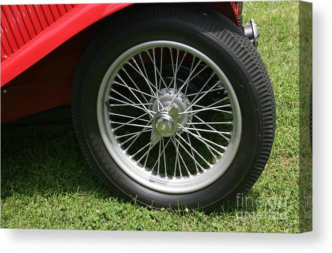 Car Canvas Print featuring the photograph Close-up Of Past by Dawn Downour