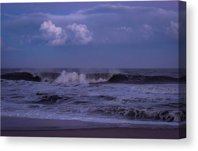 Terry D Photography Canvas Print featuring the photograph Cloud And Wave Seaside New Jersey by Terry DeLuco