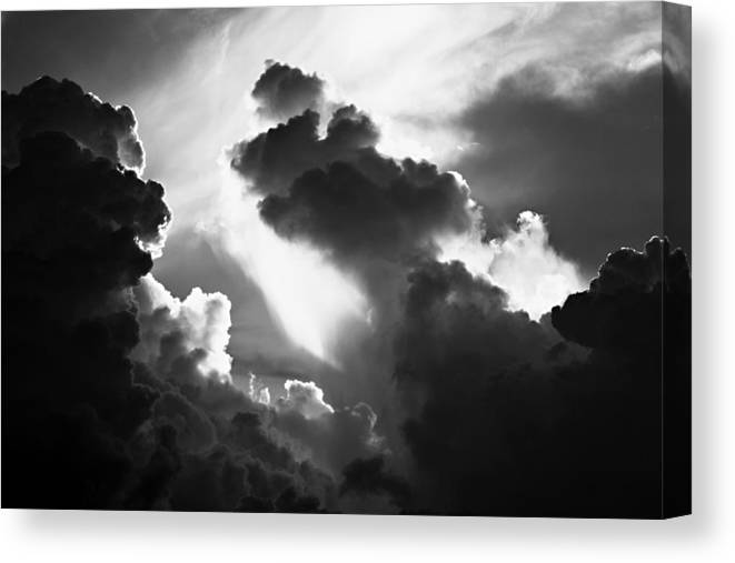 Cloud Canvas Print featuring the photograph Clouds-1- St Lucia by Chester Williams