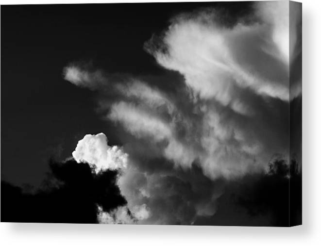 Cloud Canvas Print featuring the photograph Clouds-4- St Lucia by Chester Williams