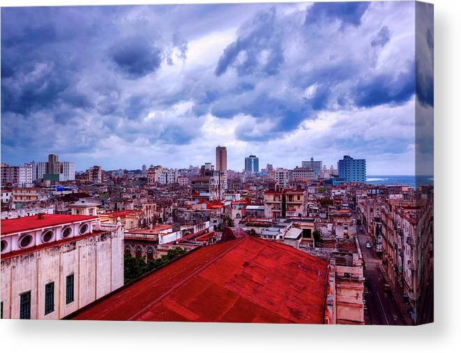 Havana Canvas Print featuring the photograph Clouds Over Havana by Mountain Dreams