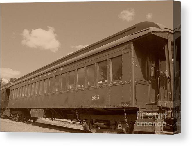 Trains Canvas Print featuring the photograph Coach by Charles Robinson