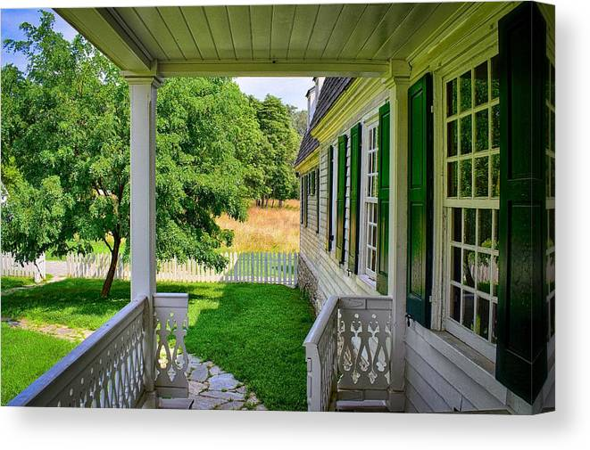 Colonial Canvas Print featuring the photograph Colonial Domesticity by Doug Swanson