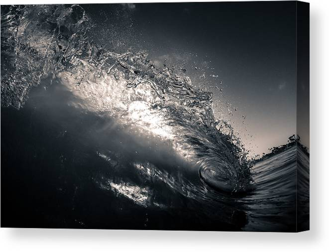 Huntington Beach Canvas Print featuring the photograph Colorless Window by Alex Nicolson