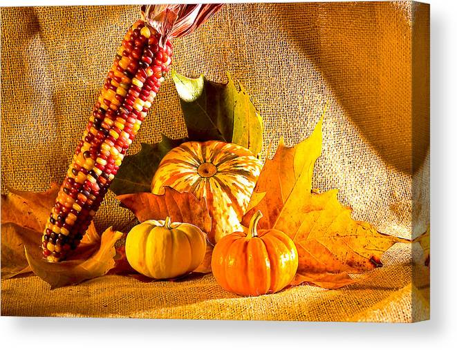 Pumpkins Canvas Print featuring the photograph Colors Of Autumn by Naman Imagery
