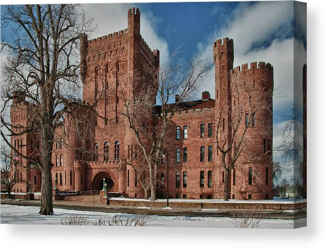 Armory Canvas Print featuring the photograph Connecticut Street Armory 3997a by Guy Whiteley