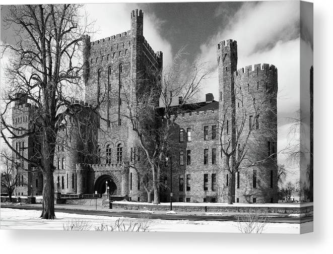 Armory Canvas Print featuring the photograph Connecticut Street Armory 3997b by Guy Whiteley