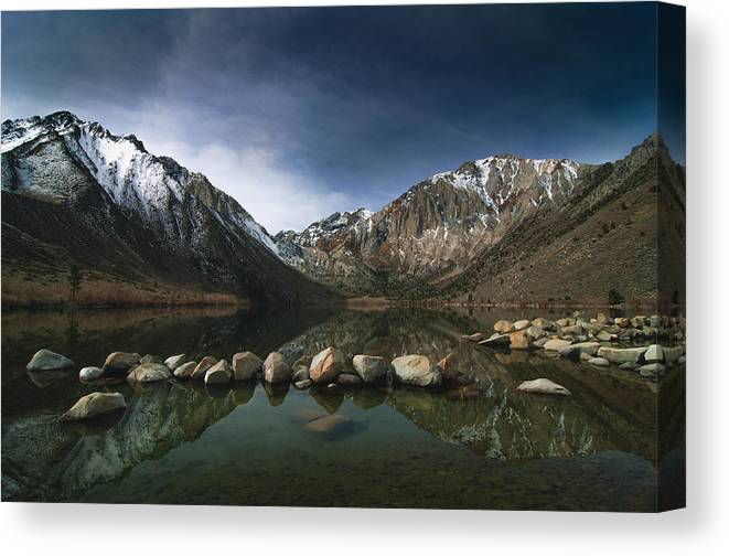 Convict Lake Canvas Print featuring the photograph Convict Lake by Ralph Vazquez