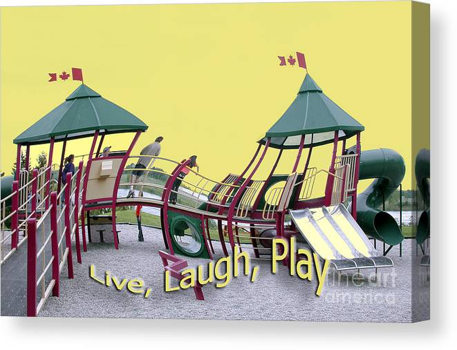 Playground Canvas Print featuring the photograph Cornwall Play by Jacqueline Milner