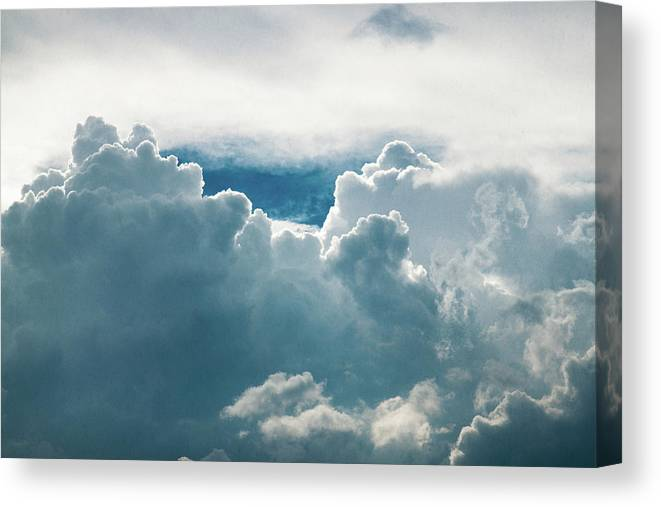 Clouds Canvas Print featuring the photograph Cotton Clouds by Marc Wieland