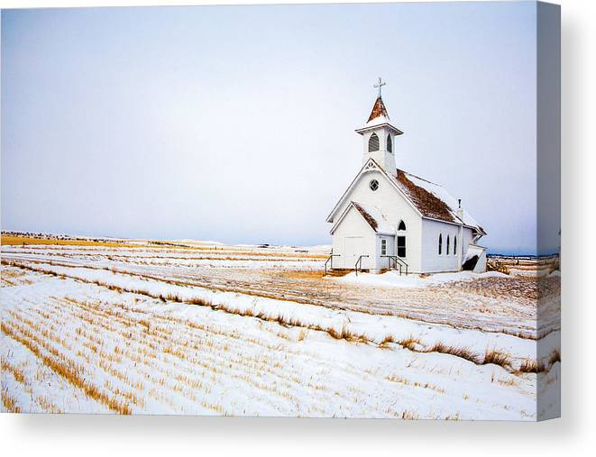 Kirche Canvas Print featuring the photograph Country Church by Todd Klassy
